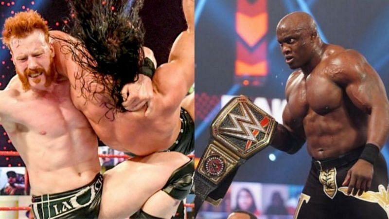 शेमस और WWE चैंपियन बॉबी लैश्ले