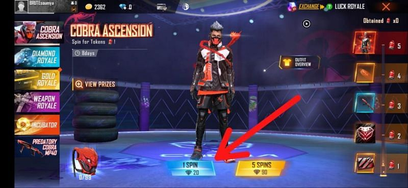 Players can choose their desired spin