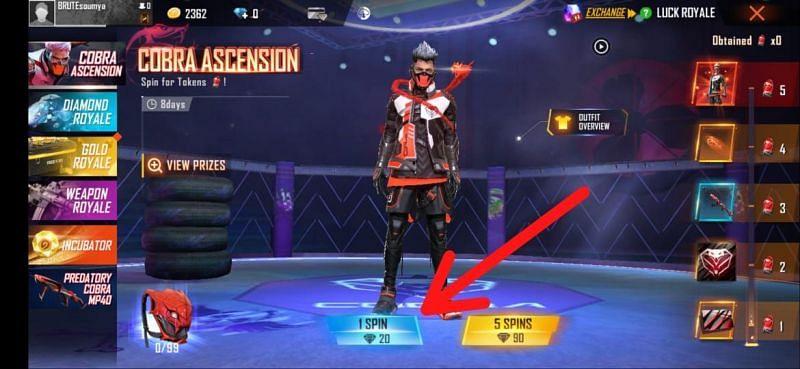 Os jogadores podem escolher o giro desejado
