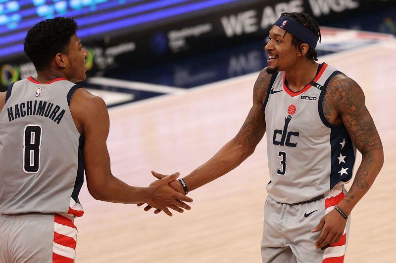 Washington Wizards starters Bradley Beal and Rui Hachimura