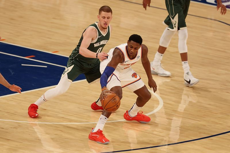 The Knicks and Bucks have faced each other twice this season so far