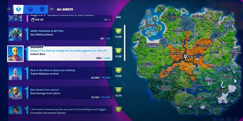 Everything to know about uncommon quests in Fortnite (Image via KingAlexHD e and Epic Games)
