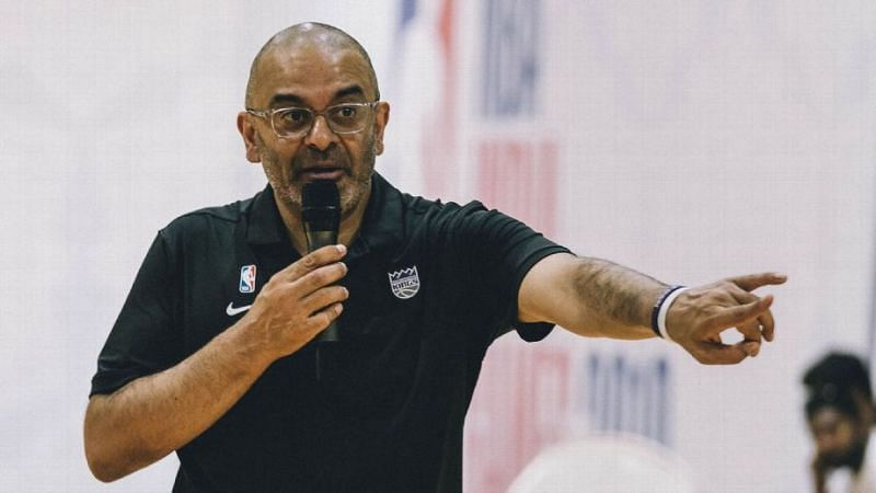 Roy Rana during his visit to India in 2019 [Image: NBA India]