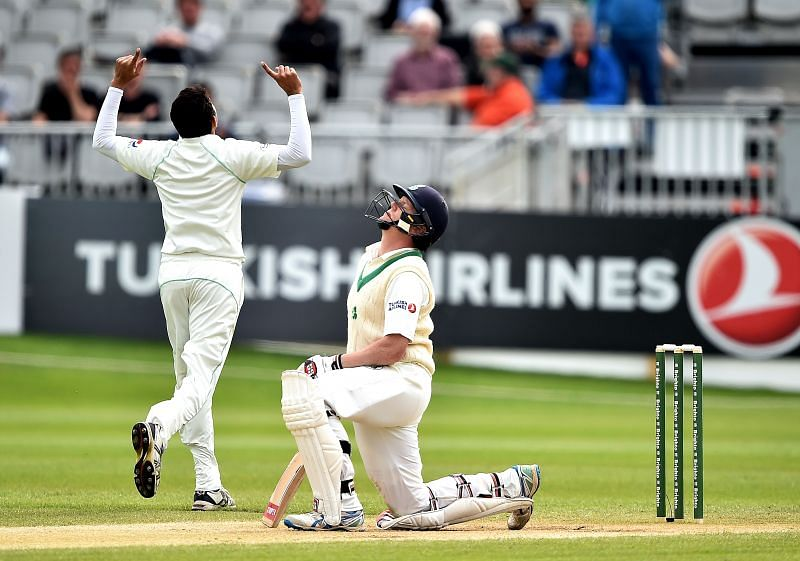 Kevin O'Brien gets out after scoring a 118 against Pakistan