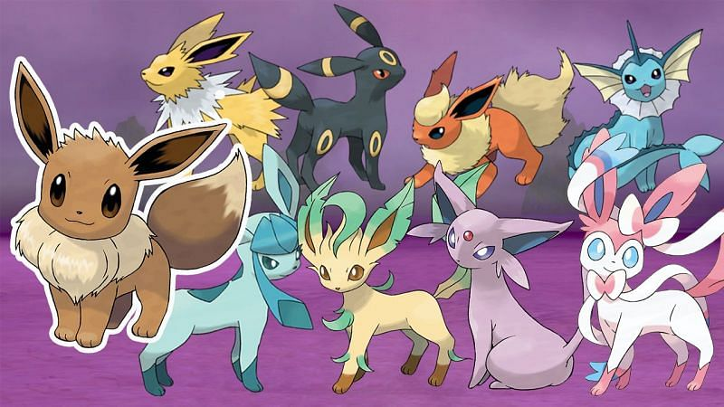 Eevee and its evolutions (Image via The Pokemon Company)