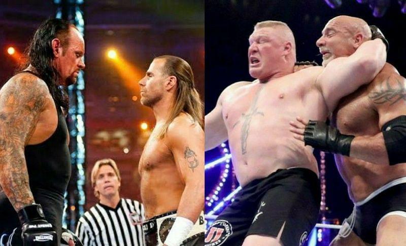The Undertaker vs Shawn Michaels; Brock Lesnar vs Goldberg
