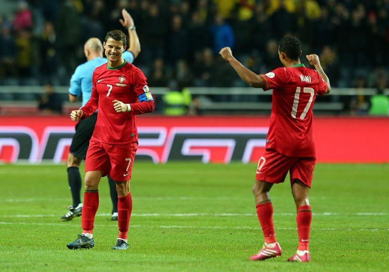 Cristiano Ronaldo and Nani