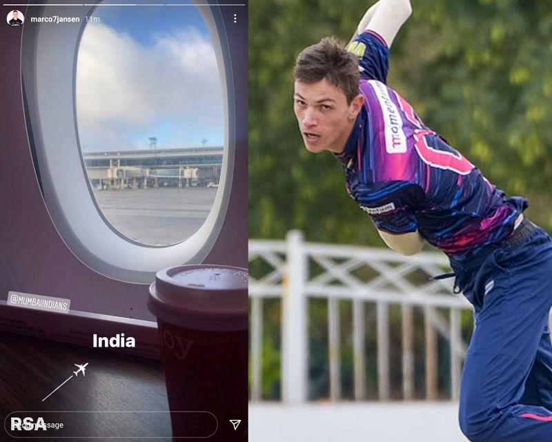 Marco Jansen is all set for IPL 2021 (Credit: Instagram)