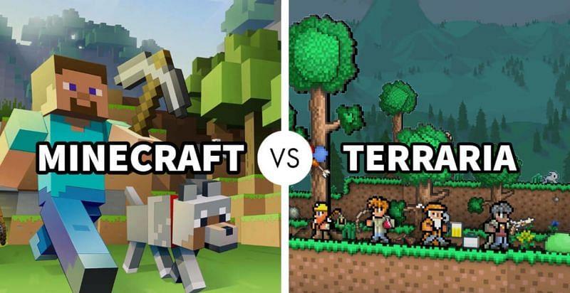 A comparison between Minecraft and Terraria (Image via theworldsbestandworst.com)
