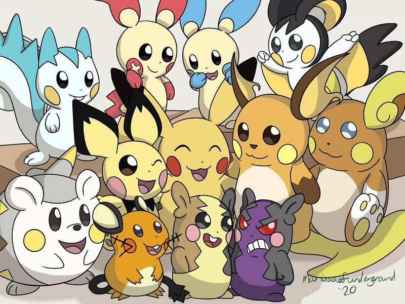 Pikachu and Pikachu Clones (Image via marissaofunderground on Tumblr)