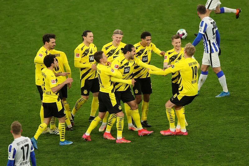 Borussia Dortmund face FC Koln in the Bundesliga