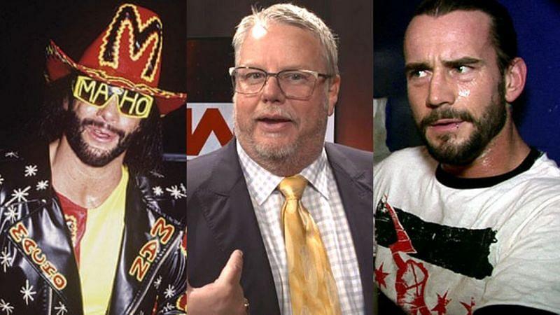 Randy Savage, Bruce Prichard, and CM Punk.