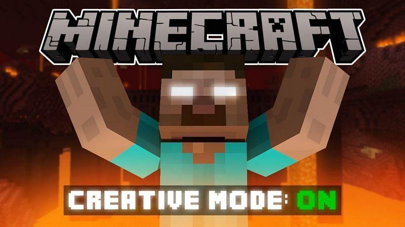 Creative mode on (Image via YouTube)
