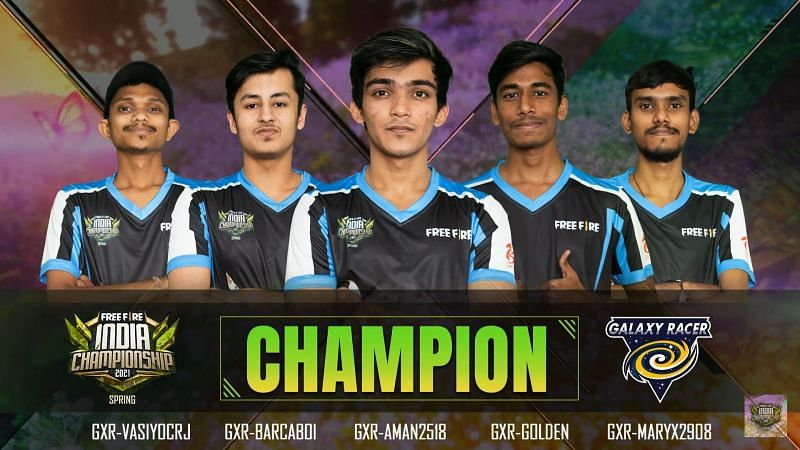 Galaxy Racer Esports crowned Free Fire India Championship Spring