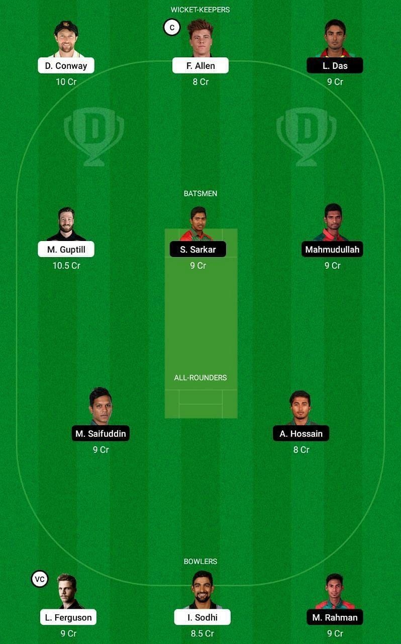 NZ vs BAN 2nd T20I Dream11 Tips