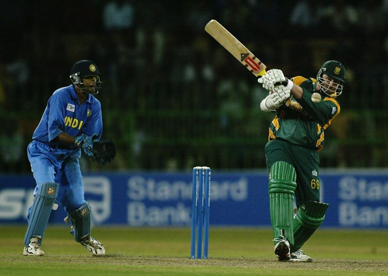 Lance Klusener in action for South Africa.