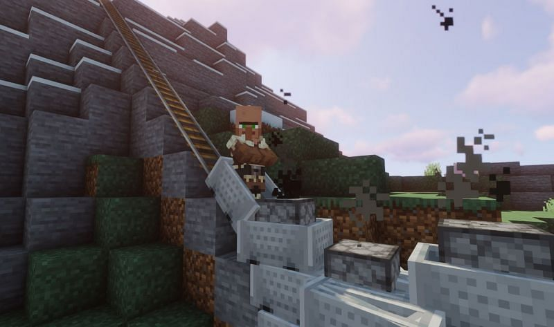 A villager stuck in rush hour traffic (Image via Minecraft)