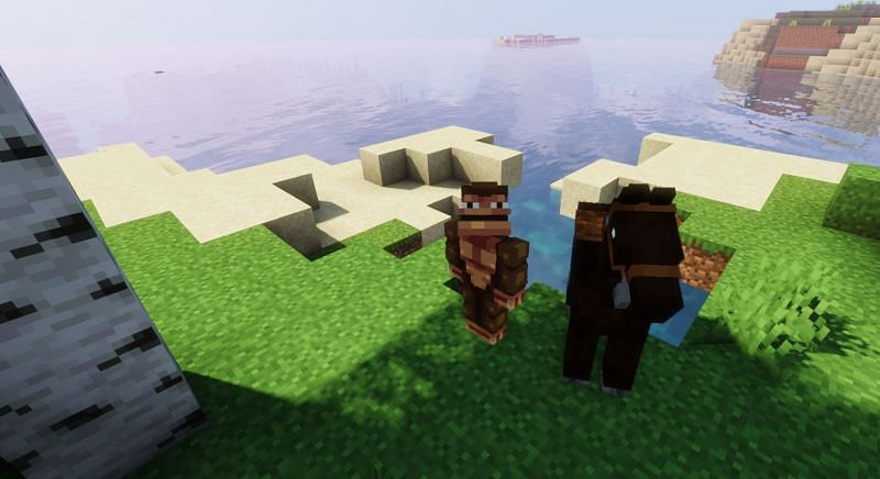 Shown: A Monke and his trusty steed (Image via Minecraft)