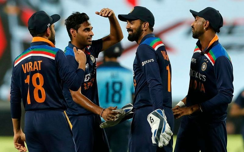 India has taken a 1-0 lead in the ICC Cricket World Cup Super League Series against England (Image courtesy: BCCI)