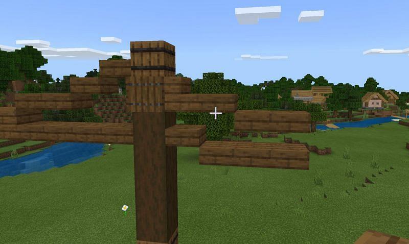 Wooden counterweight (Image via Minecraft)