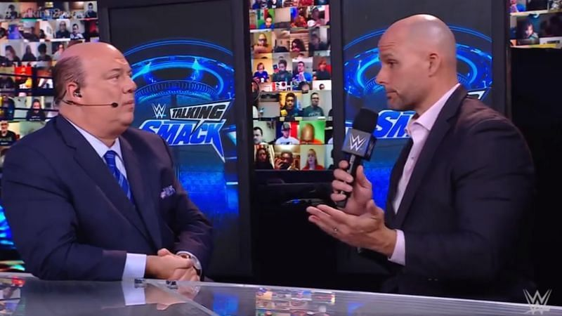 Adam Pearce appeared on Talking Smack with Paul Heyman