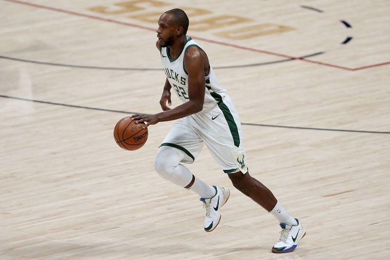 Khris Middleton (#22) of the Milwaukee Bucks.