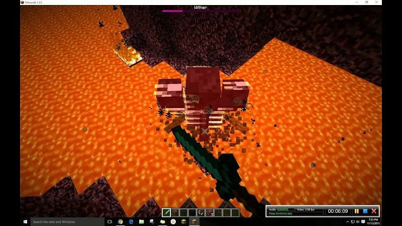 Wither in the Nether (Image via YouTube)