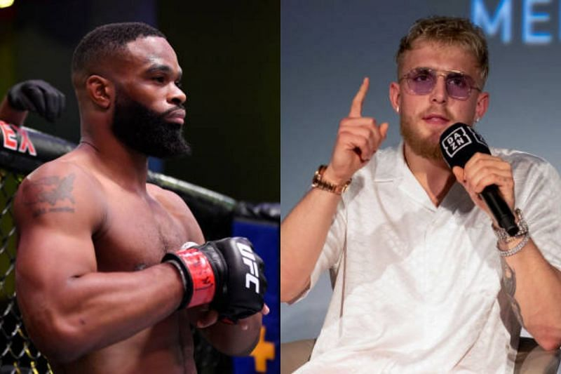 Tyron Woodley and Jake Paul