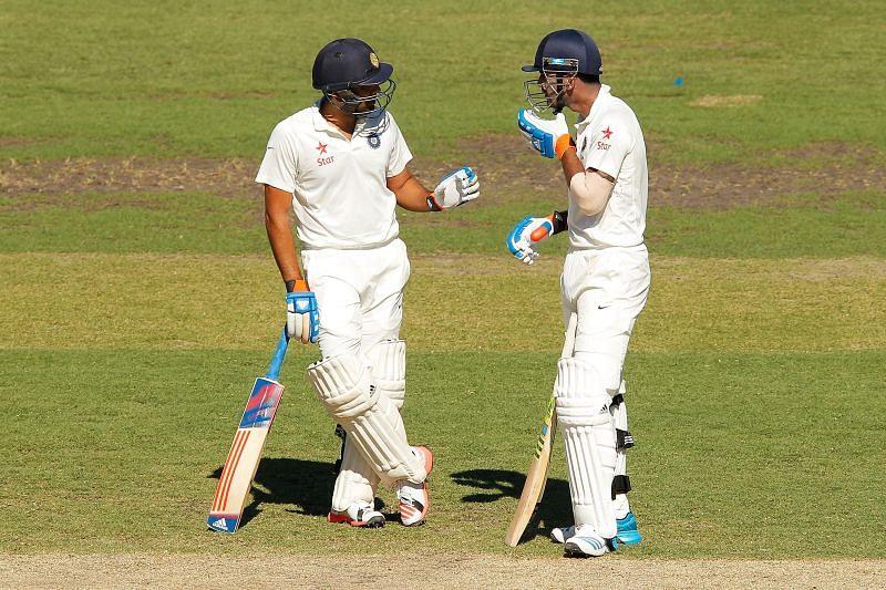 Rohit Sharma (L) with KL Rahul.