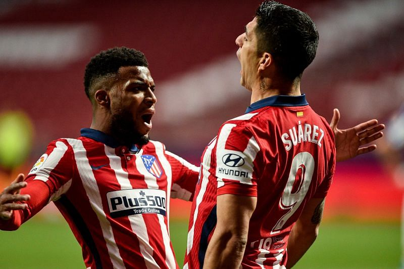 Atletico Madrid hold a four points lead at the top of La Liga