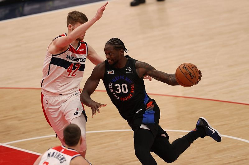 Julius Randle (#30) of the New York Knicks in action against the Washington Wizards.