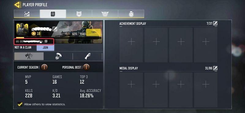 Player Profile - COD Mobile