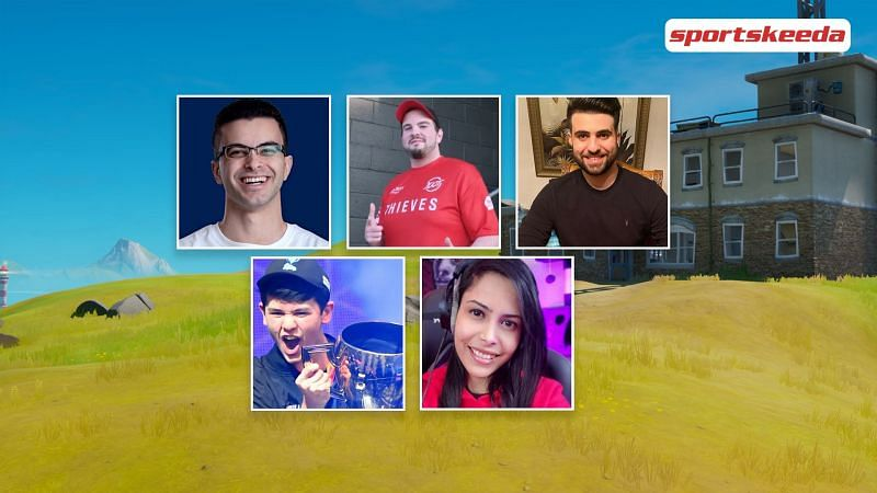 Hiko, SypherPK, Bugha, NickEH30, and Chica play Valorant together (Image via Sportskeeda)