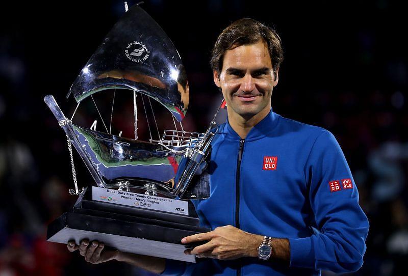 Roger Federer won the Dubai title in 2019