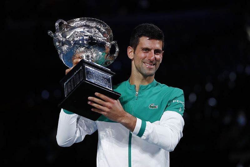 2021 Australian Open winner Novak Djokovic
