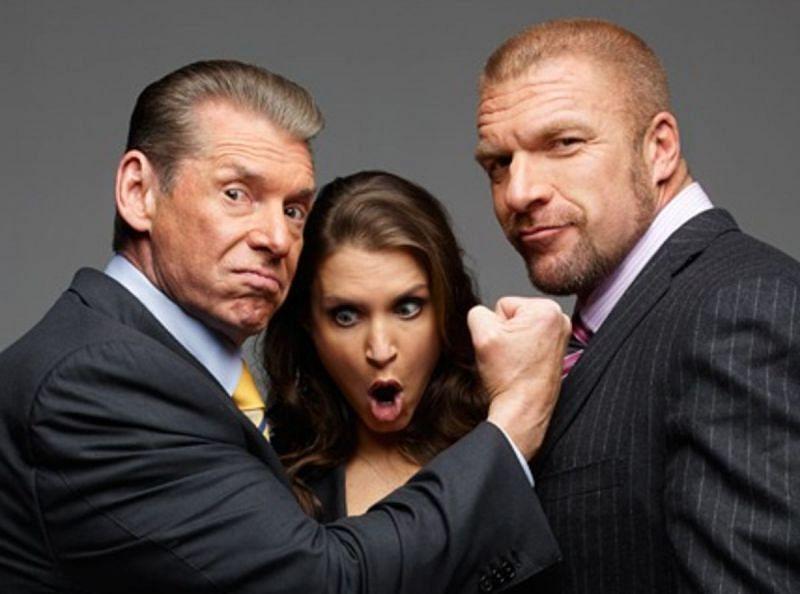 Vince McMahon, Stephanie McMahon and Triple H