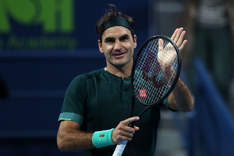 Roger Federer after beating Dan Evans at the Qatar ExxonMobil Open in Doha, Qatar