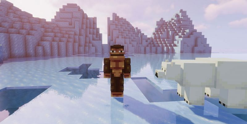 Deep Frozen Oceans are home to some pretty rare mobs (Image via Minecraft)