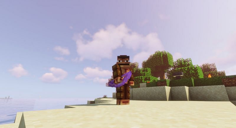 Shown: A proud Monke and his Bow (Image via Minecraft)