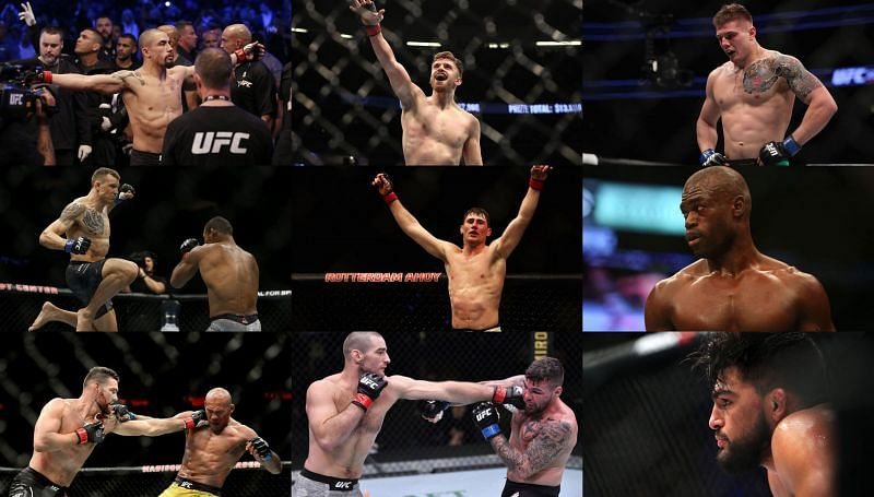 UFC middleweights in action over the last couple of months.
