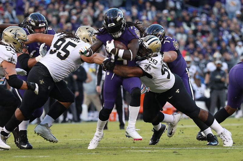 The New York Jets are acquiring Sheldon Rankins, pictured here in NFL action for the New Orleans Saints