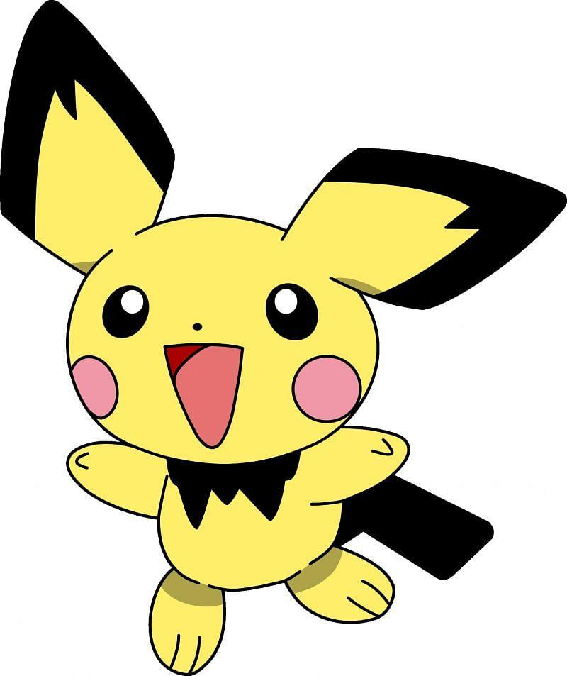 The first evolution of Pikachu, Pichu (Image via The Pokemon Company)