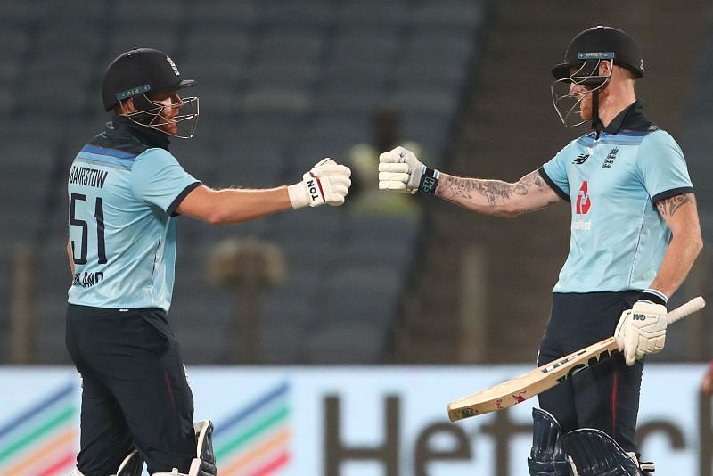 Jonny Bairstow (L) & Ben Stokes shared a 175-run stand in the second ODI.