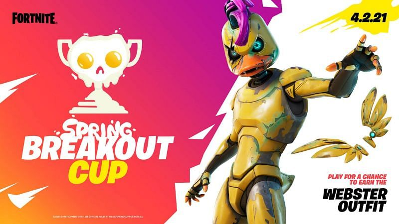 Fortnite Spring Breakout cup: Start date, Webster outfit, Egg Launcher, and other details (Image via Epic Games)