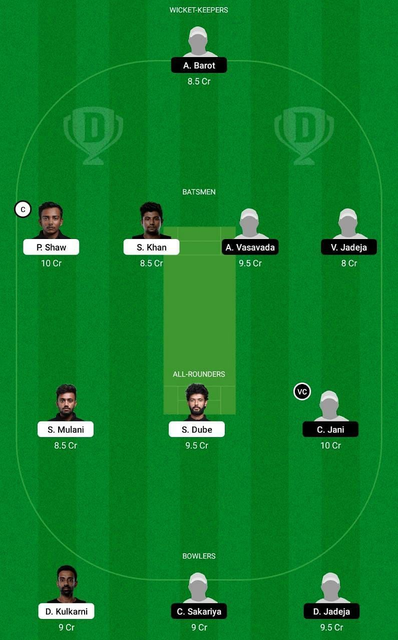 MUM vs SAU Dream11 Tips - Vijay Hazare Trophy 2021