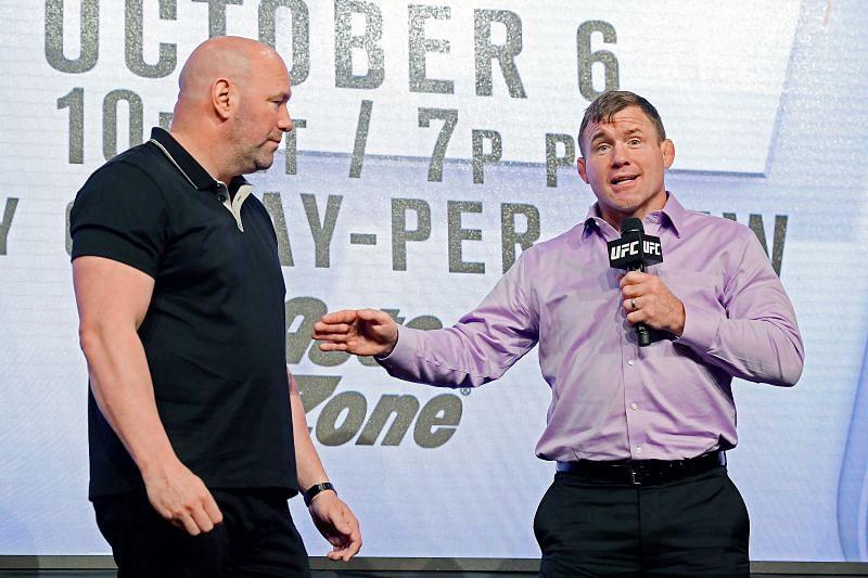 UFC Hall of Famer Matt Hughes with Dana White.