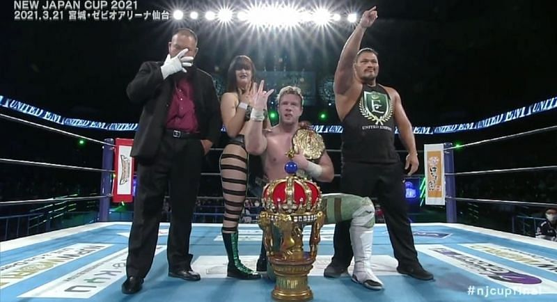 Will Ospreay won the New Japan Cup 2021.