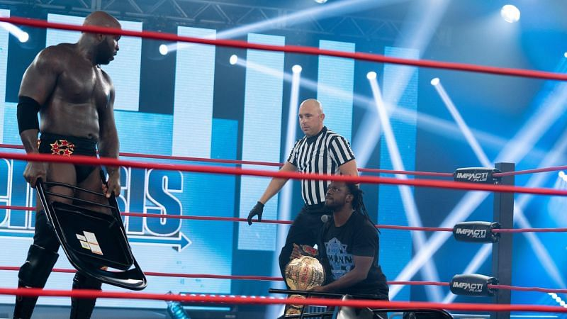 Moose and Rich Swann in IMPACT Wrestling