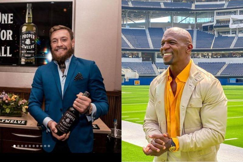 Conor McGregor (left), Terry Crews (right) via Instagram