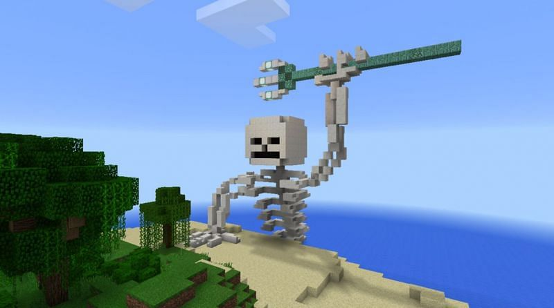 Drowned mobs are the only way players will get tridents, which are a rare Minecraft weapon (Image via Reddit)